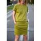 sukienka IRON - kolor OLIWKOWY