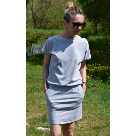 sukienka IRON - kolor SZARY