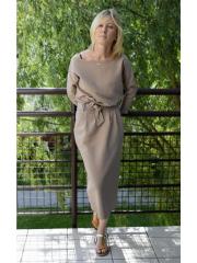 NINA - Cotton maxi belt dress - bound