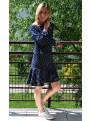 TAYLOR - mini sukienka w groszki z falbaną