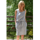 SALLY - sleeveless dress with a frill