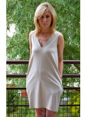 sukienka MIRANDA - kolor KOŚĆ SŁONIOWA