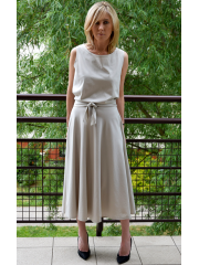 sukienka EMMA - kolor KOŚĆ SŁONIOWA