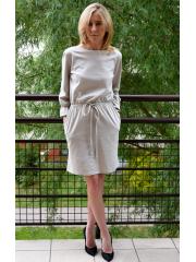 sukienka BROOKE - kolor  KOŚĆ SŁONIOWA