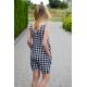 bawełniana sukienka mini MIRANDA - w kratę