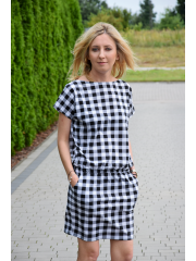 sukienka IRON - w kratę