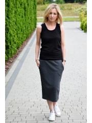 LUMO - long cotton skirt