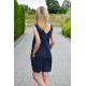 bawełniana sukienka mini MIRANDA - w groszki