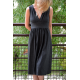 CARMEN - long knitted dresscotton dress with a midi length