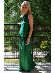 AMIRA - DZIANINOWA SUKIENKA  - zielona