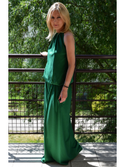 AMIRA - maxi / lange Strickkleid - grünes