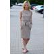 UNO - Bawełniana sukienka bez rękawów - mokka w groszki