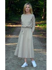 ADELA - Midi Ausgestelltes Kleid gestrickt - mokka in polka dots