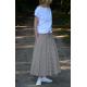 DRESCODE - Lange Baumwollrock mit Schleife oder Strick - BORDEAUX