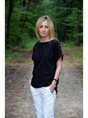 KIRA - Cotton blouse with eyelets