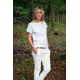 FOCUS - knitted women's t-shirt with pocket