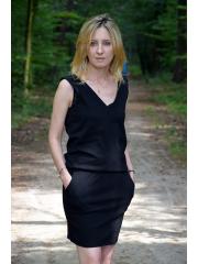 sukienka MALTA - kolor CZARNY