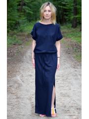 sukienka GREES - kolor GRANATOWY