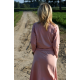 sukienka CELINA - kolor brudny różowy