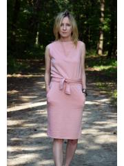 UNO - Bawełniana sukienka bez rękawów - brudny róż