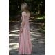 SWING - długa bawełniana sukienka - brudny róż