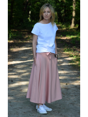 KLAUDIA - cotton SKIRT FROM THE WHEEL 7/8 - dirty pink