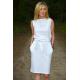 UNO - Baumwoll Midi ärmelloses Kleid