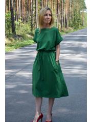 MANILA - Cotton midi dress - green