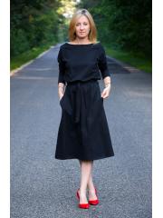 ROSE - cotton dress with belt