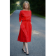 ROSE - dzianinowa sukienka z paskiem