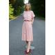MANILA - Cotton midi dress dirty pink