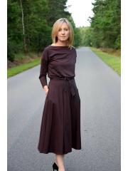 sukienka ADELA - kolor CZEKOLADA