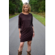 CARRIE - Cotton mini dress - tunic - chocolate