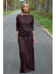 sukienka MAXIMA - kolor CZEKOLADA
