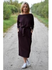 sukienka NINA - kolor CZEKOLADA