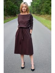 sukienka ROSE - kolor CZEKOLADA
