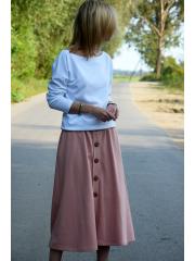 spódnica LUPE - kolor BRUDNY RÓŻ