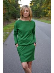 sukienka MESA - kolor ZIELONY