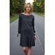 TAYLOR - sukienka z wiązanym rękawem i falbaną