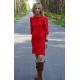 sukienka CAMO - kolor CZERWONY