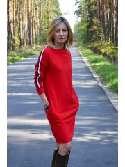 sukienka PATH - kolor CZERWONY