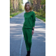 PABLO - cotton overalls with long sleeves - green