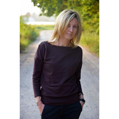 bluzka MARTHA - kolor CZEKOLADOWY