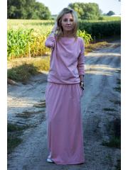 sukienka MAXIMA - kolor brudny róż