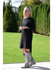 sukienka DORITA - kolor CZARNY