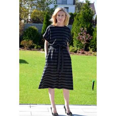 0f22eaac4a MANILA - Cotton midi dress - in stripes - Sisters (www.shopsisters.eu)
