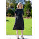 MANILA - Cotton midi dress - in stripes