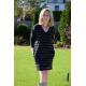 KARO - cotton tunic / mini long sleeve dress - in stripes