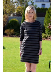 CARRIE - Cotton mini dress - tunic - in stripes