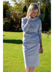 MIKA - cotton dress with turtleneck